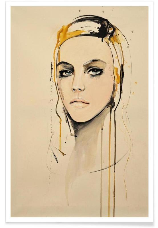 Porträts, Golden -Poster