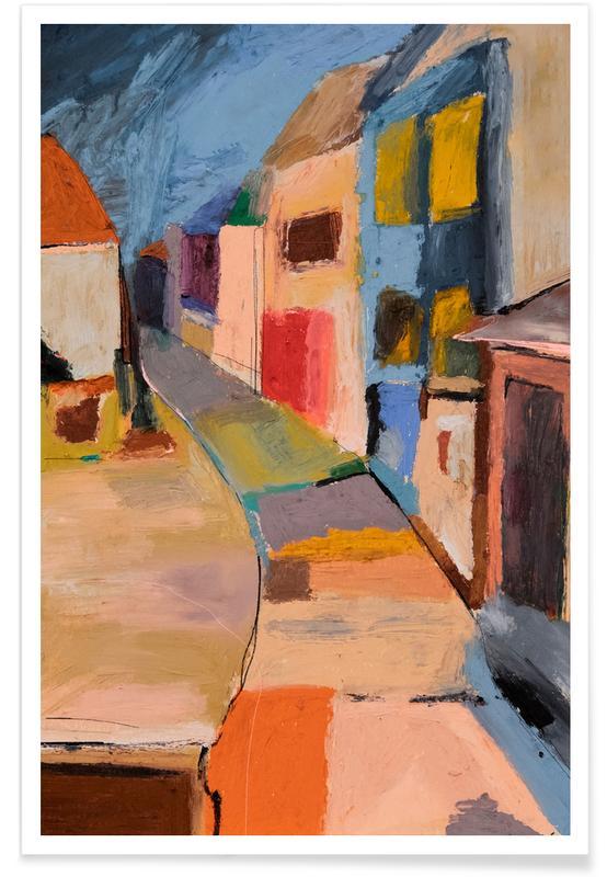 Détails architecturaux, Paysages abstraits, Cagnes Sur Mer France affiche