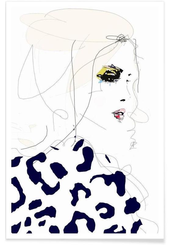 Illustrations de mode, Draw the line affiche