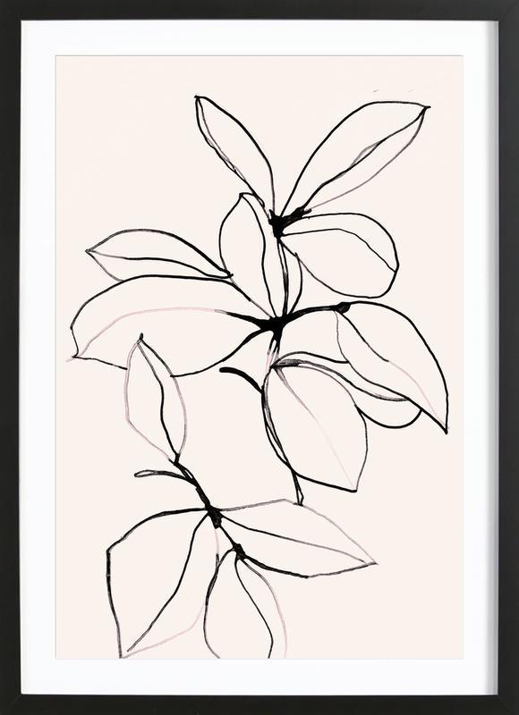 Foliage 0118 -Bild mit Holzrahmen