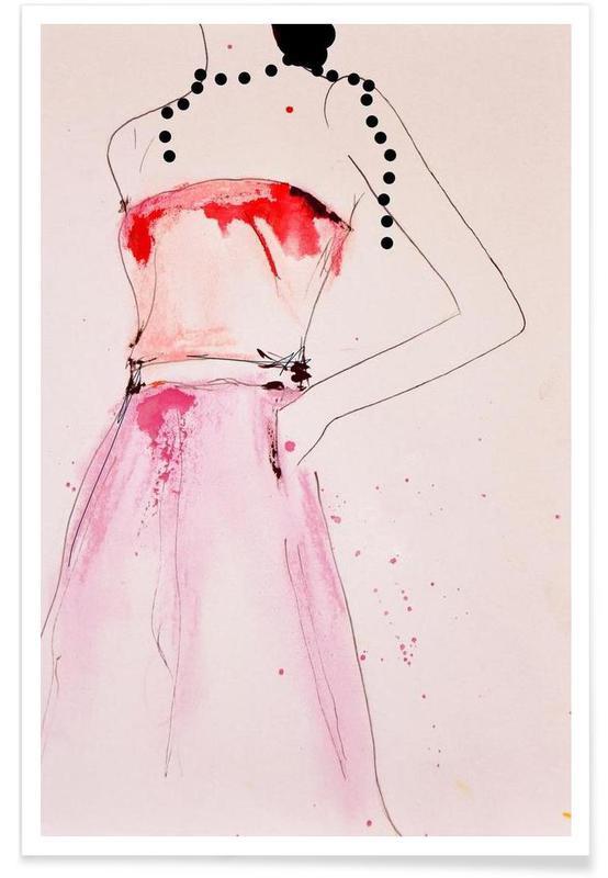 Illustrations de mode, About a Pearl affiche