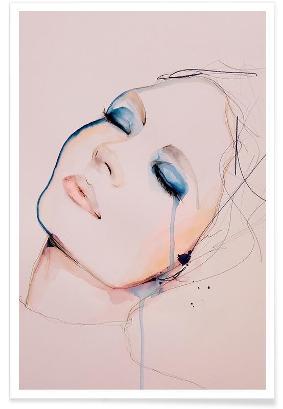 Porträts, Modeillustration, Insight -Poster