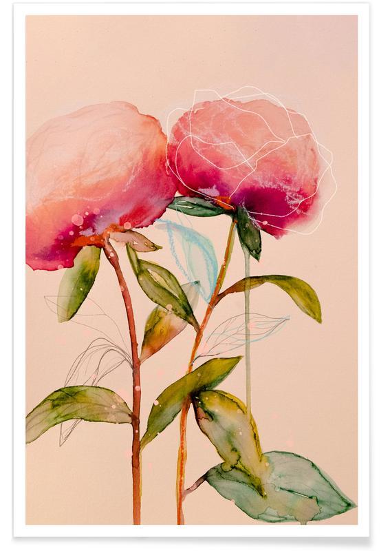 Blätter & Pflanzen, Peonies 1 -Poster