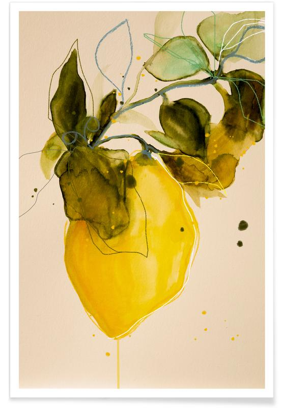 Blätter & Pflanzen, Zitronen, Lemonstudy 03 -Poster