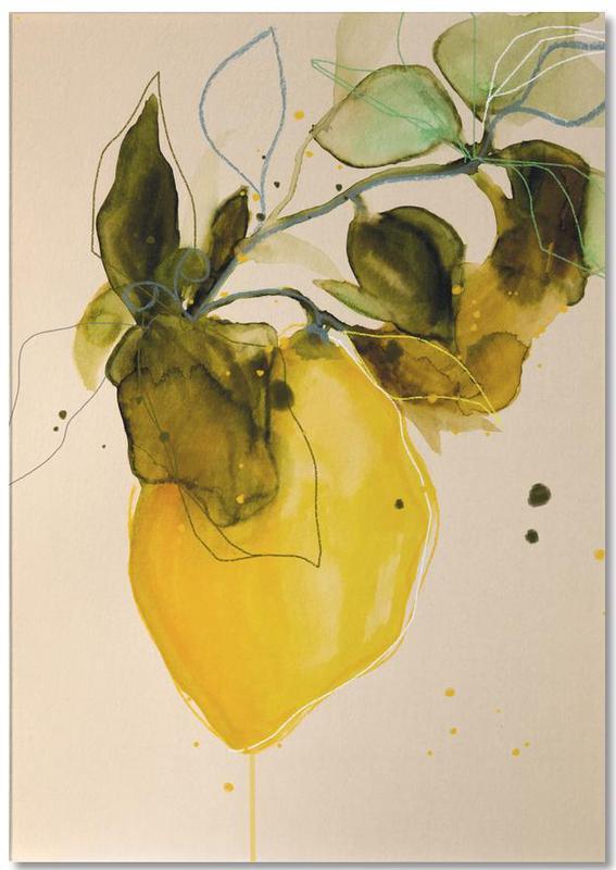 Leaves & Plants, Lemons, Lemonstudy 03 Notepad
