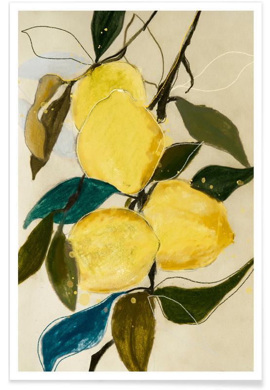 Lemons, Leaves & Plants, Lemonstudy 1 Poster