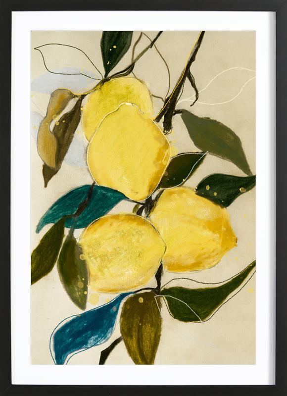 Lemonstudy 1 -Bild mit Holzrahmen