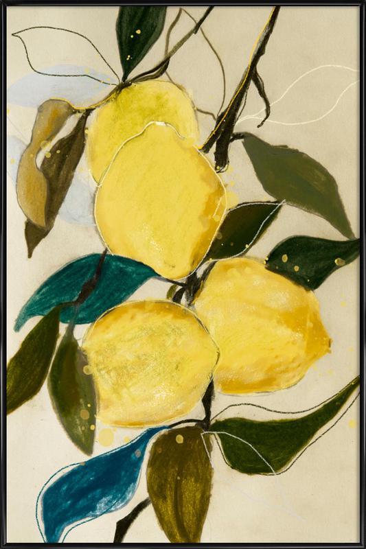 Lemonstudy 1 -Bild mit Kunststoffrahmen