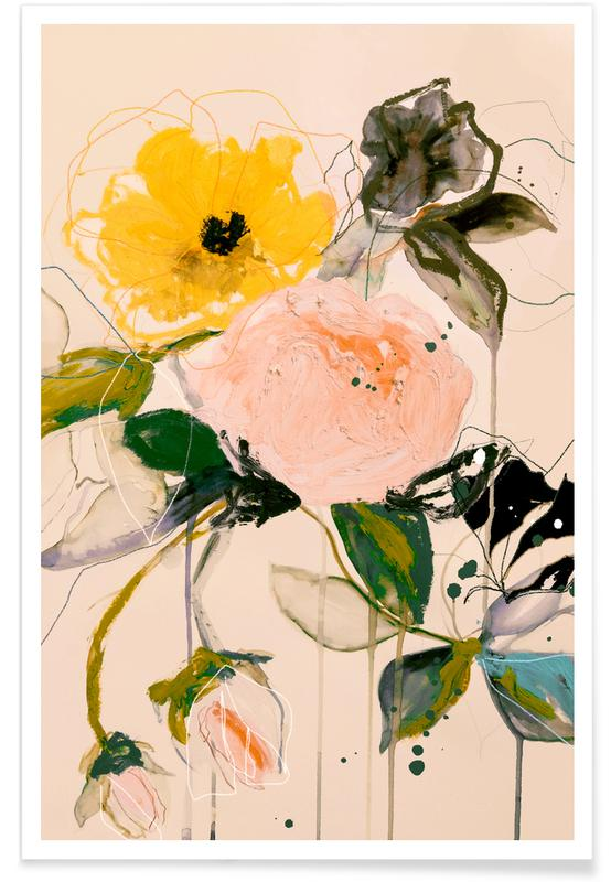 , Roses Butterfly Poster