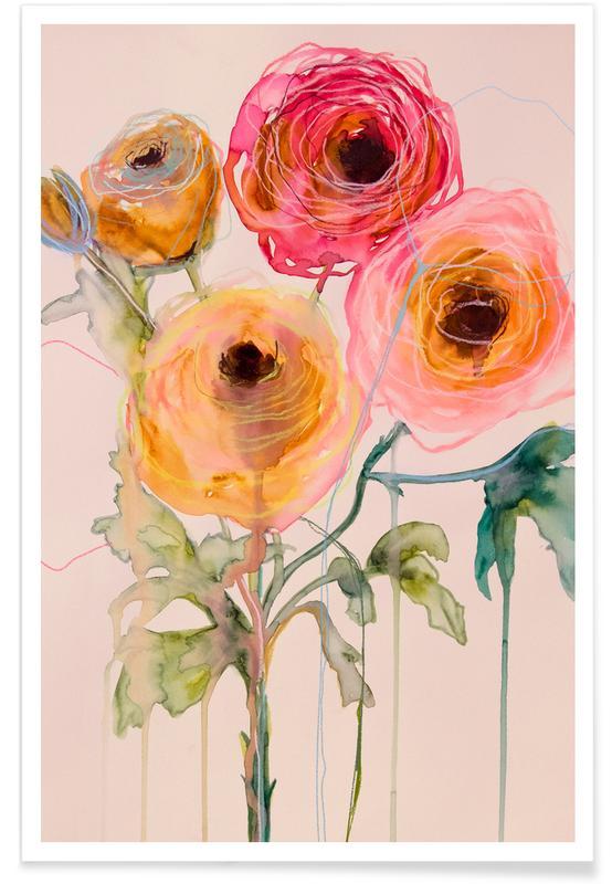 , Ranunculus 06 Poster