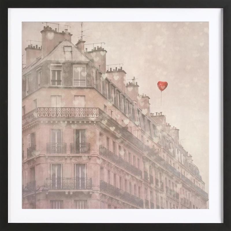Heart Paris Framed Print
