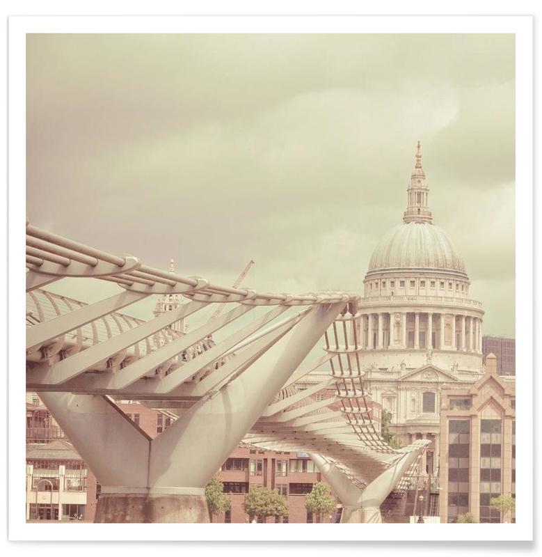 Ponts, Monuments et vues, Londres, Millenium Square affiche