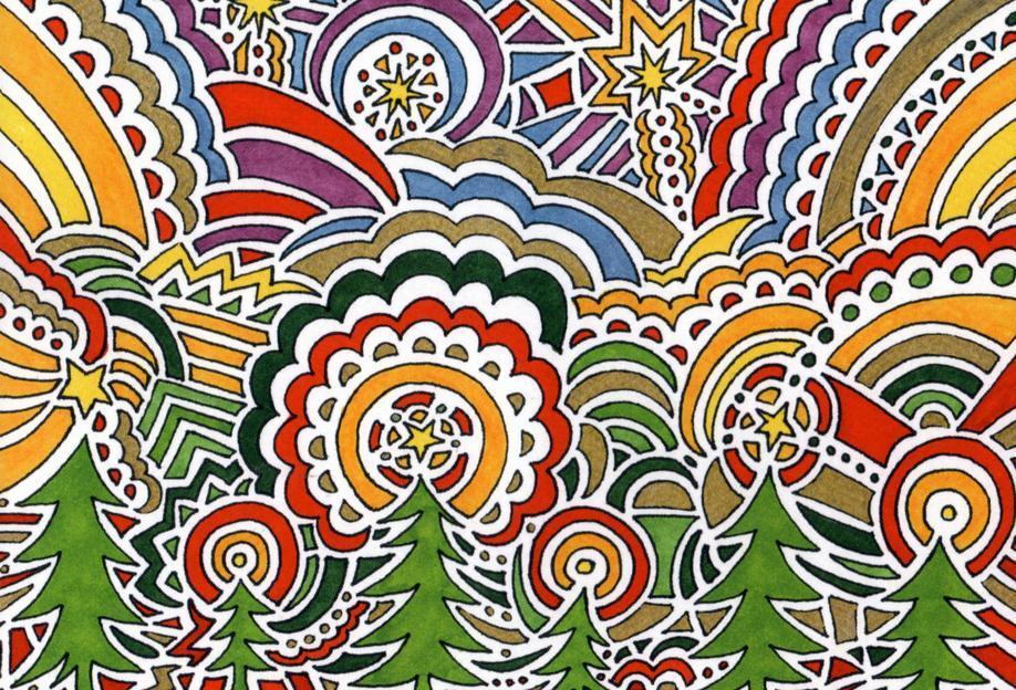 Holiday Drawing 1 Acrylic Print