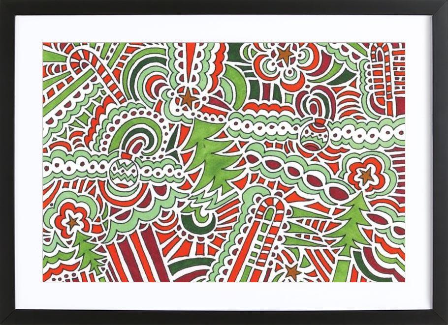 Holiday Drawing 2 Framed Print