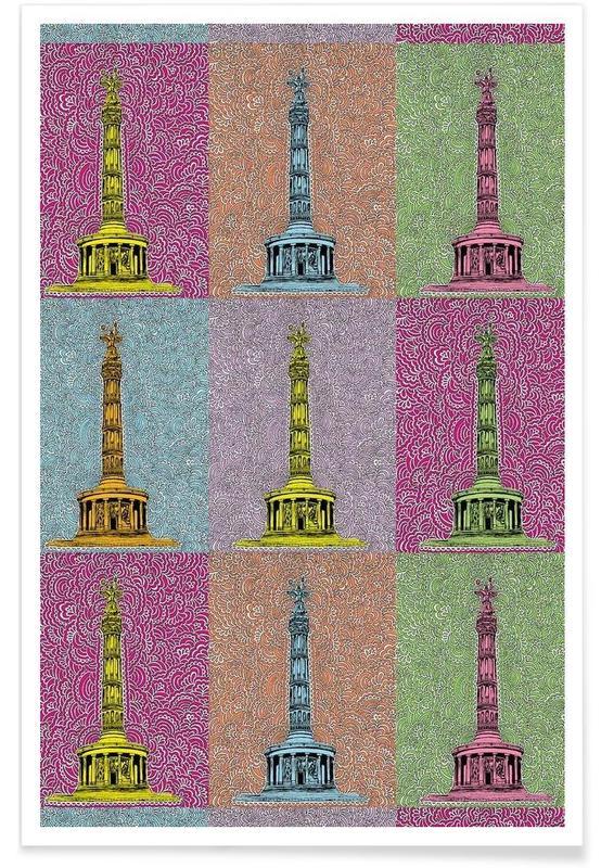 Berlin, Sehenswürdigkeiten & Wahrzeichen, Siegessäule -Poster