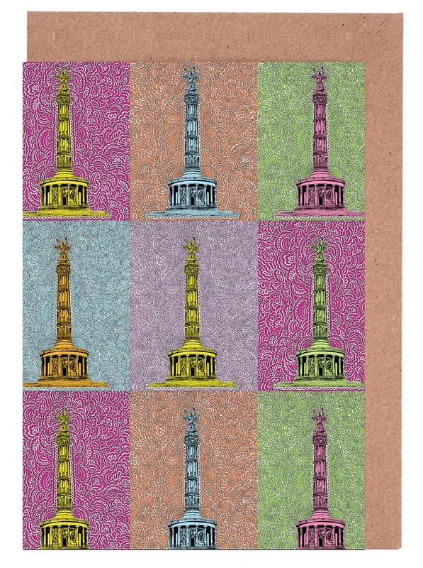 Berlin, Sights & Landmarks, Siegessäule Greeting Card Set