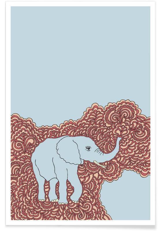 Éléphants, Elephant Blue affiche