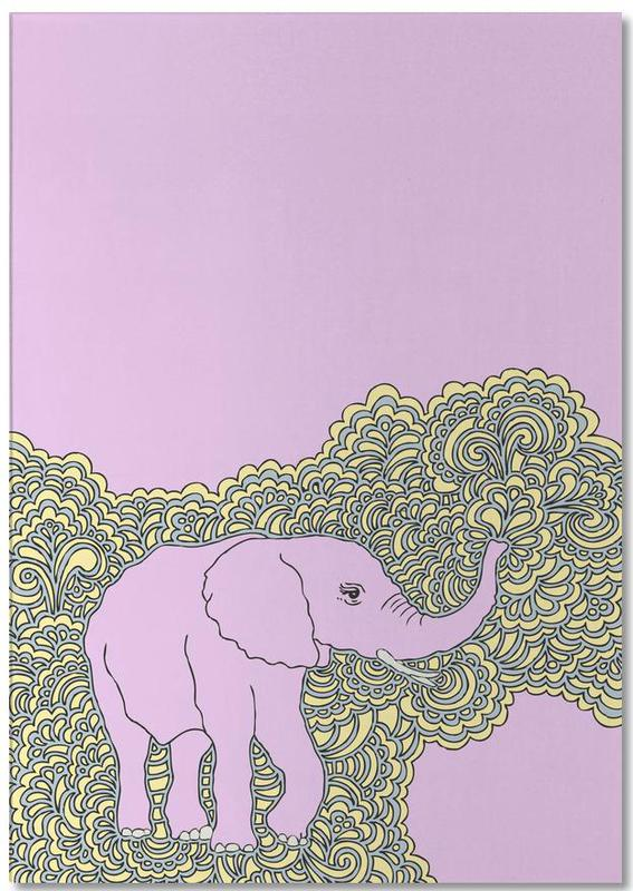 Elephant Purple Notepad