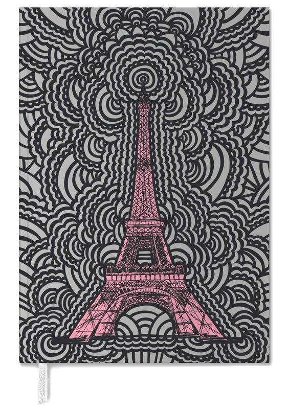 Eiffel Tower Drawing Meditation Pink -Terminplaner