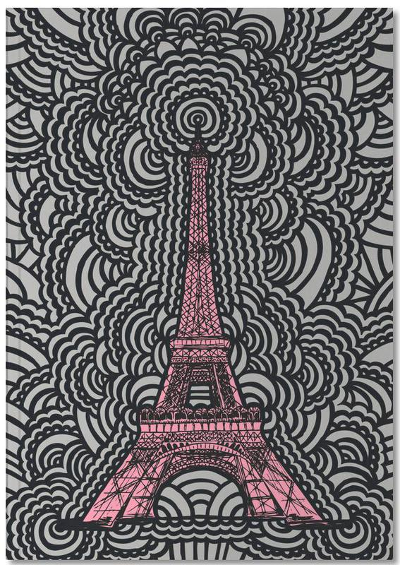 Eiffel Tower Drawing Meditation Pink Notebook