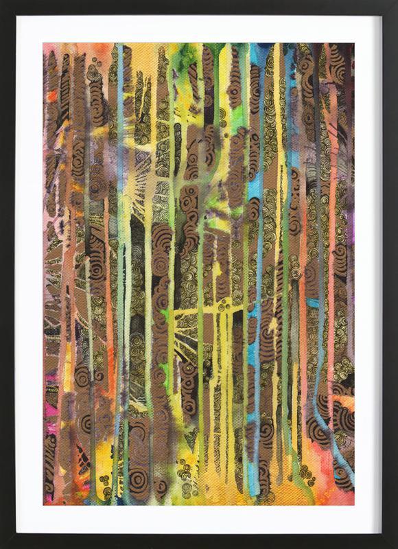Rainbow Forest Framed Print