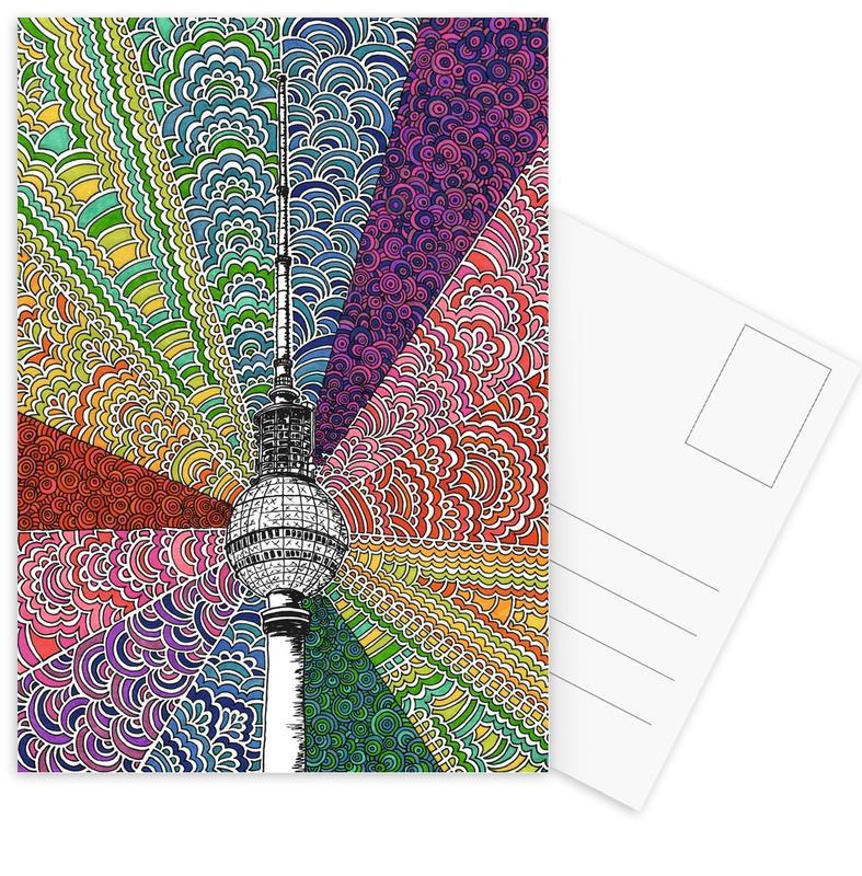 Berlijn, Reizen, Berlin, Bursting With Color ansichtkaartenset