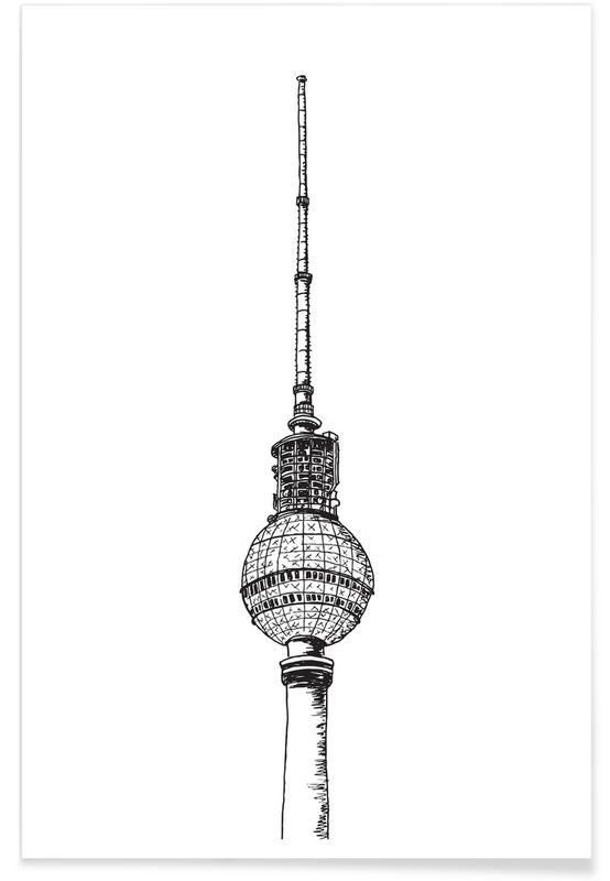 Berlin, Voyages, Berliner Fernsehturm affiche