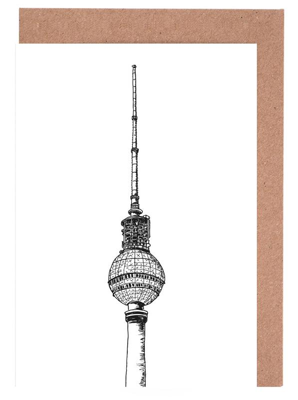 Berlin, Travel, Berliner Fernsehturm Greeting Card Set