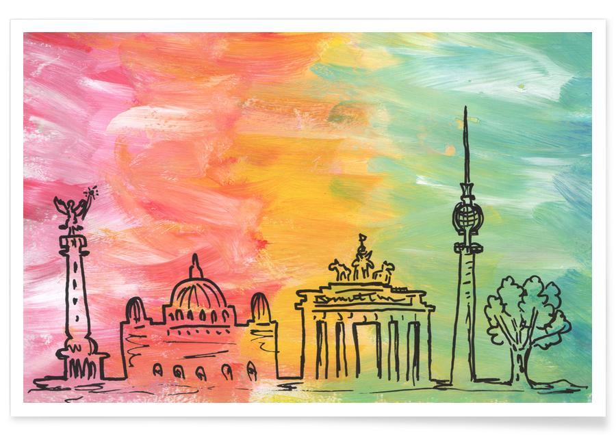 Berlin, Voyages, Berlin Skyline affiche