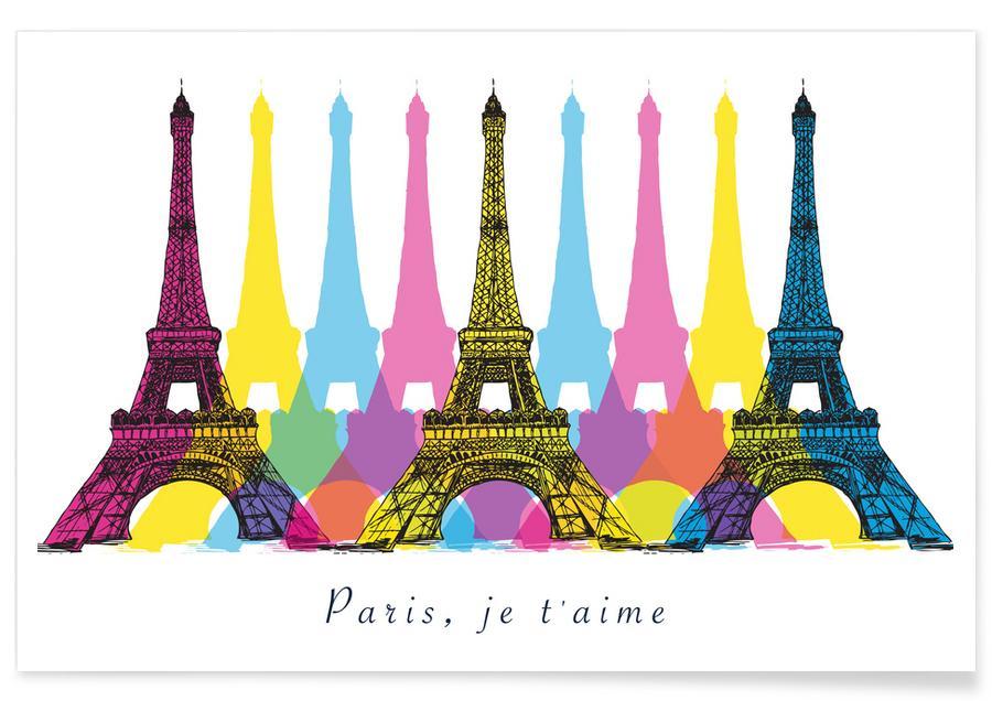 Berlin, Travel, Colorful Paris Poster