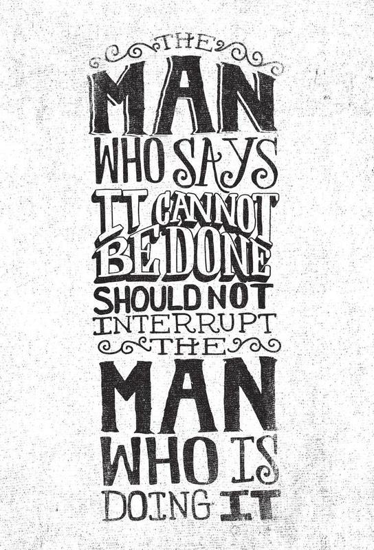 A man who says it cannot be done acrylglas print