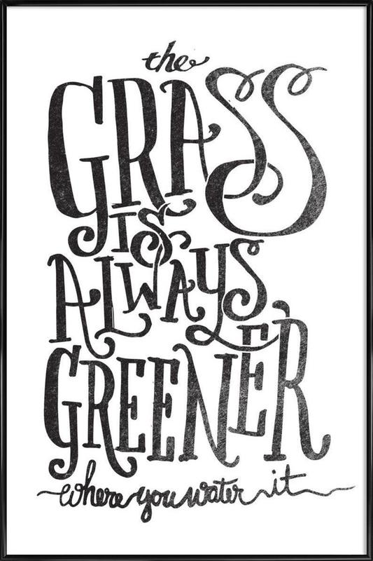 the grass is always greener Framed Poster