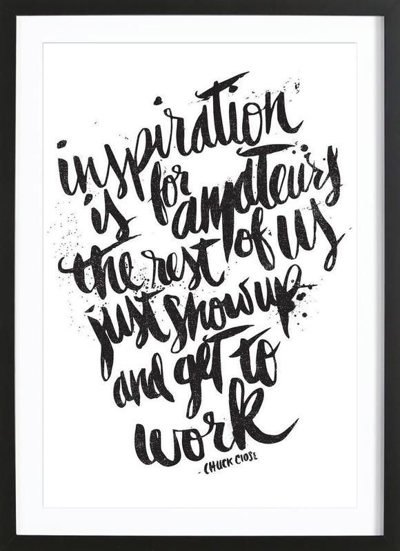 inspiration is for amateurs Framed Print