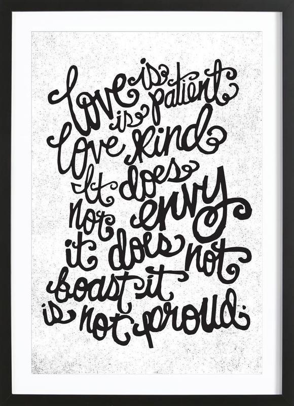 love is patient ingelijste print