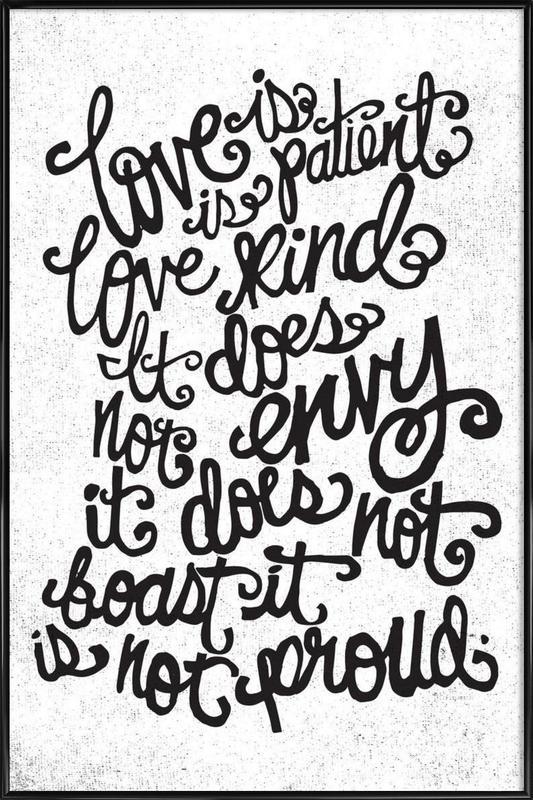 love is patient ingelijste poster