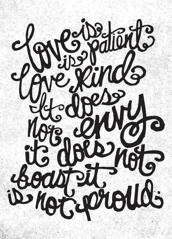 love is patient -Leinwandbild