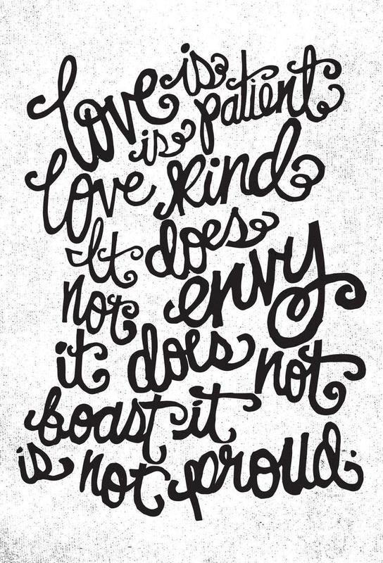 love is patient Acrylic Print