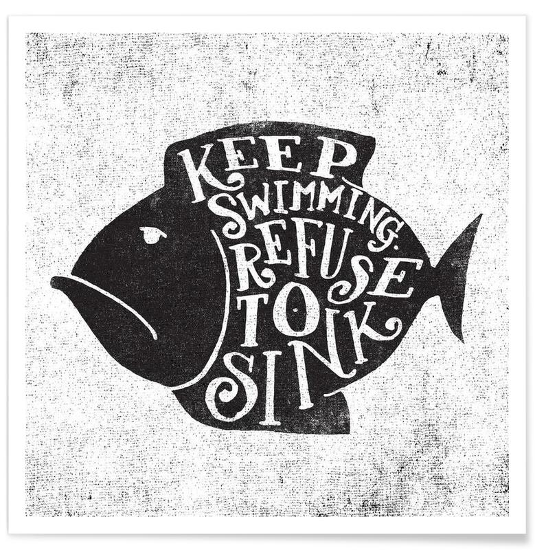 keep swimming -Poster