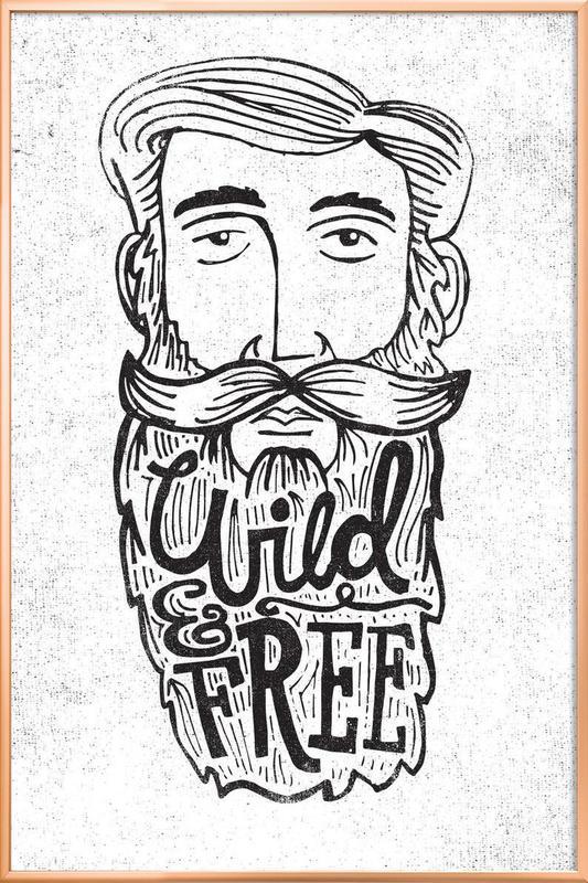 wild & free poster in aluminium lijst