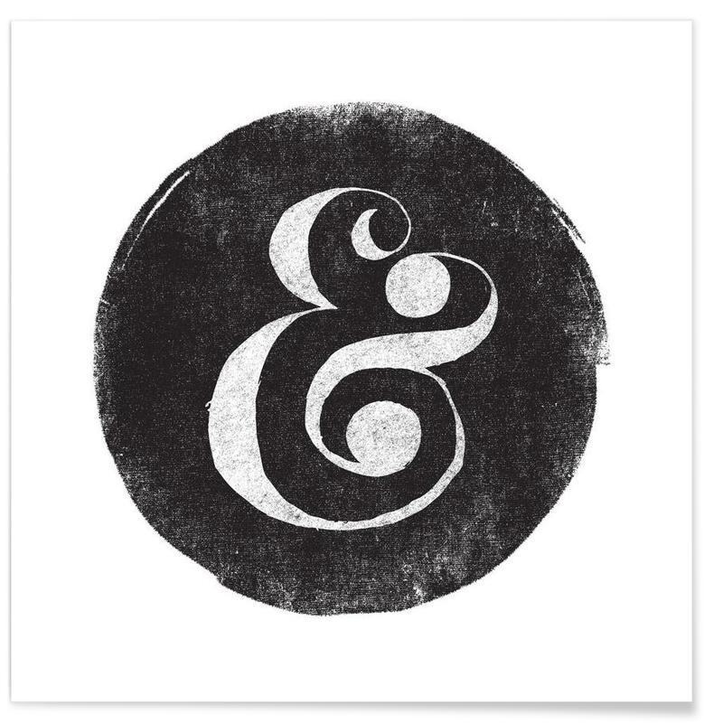 Noir & blanc, Symboles, Ampersand affiche