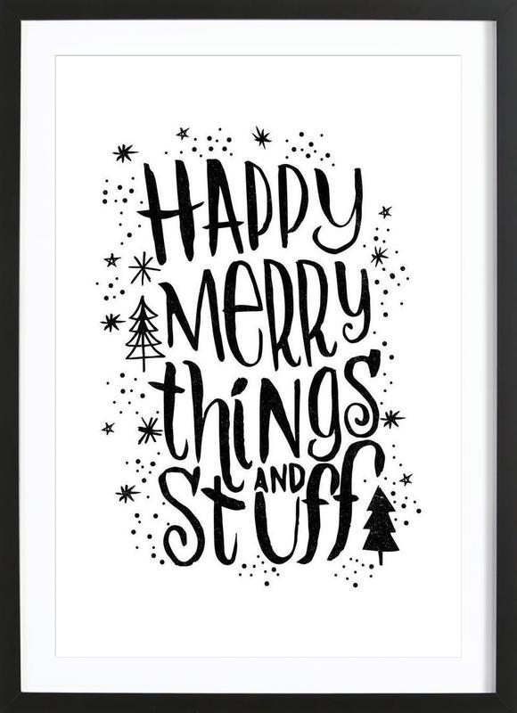 Happy Merry Framed Print