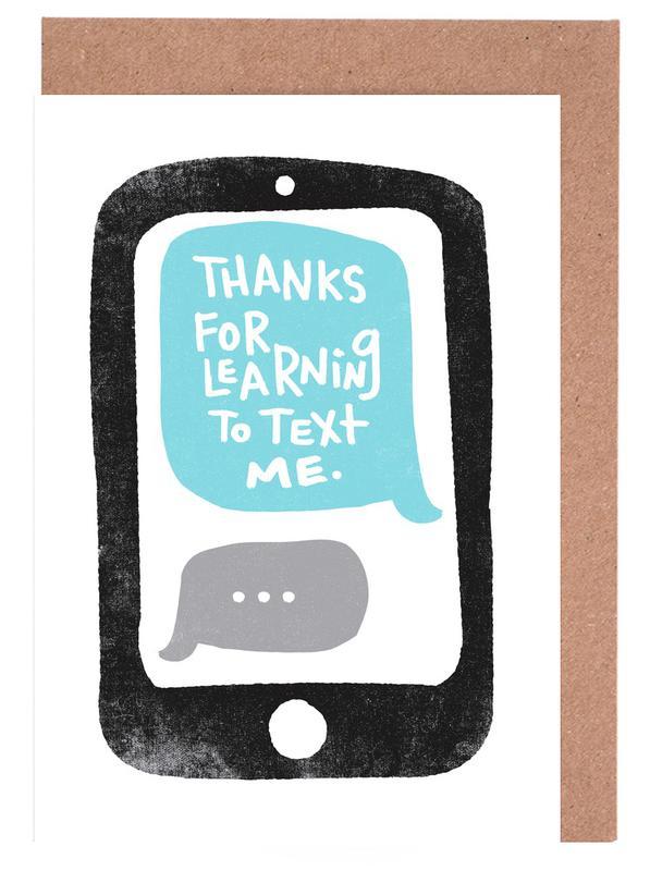Moms Text Greeting Card Set