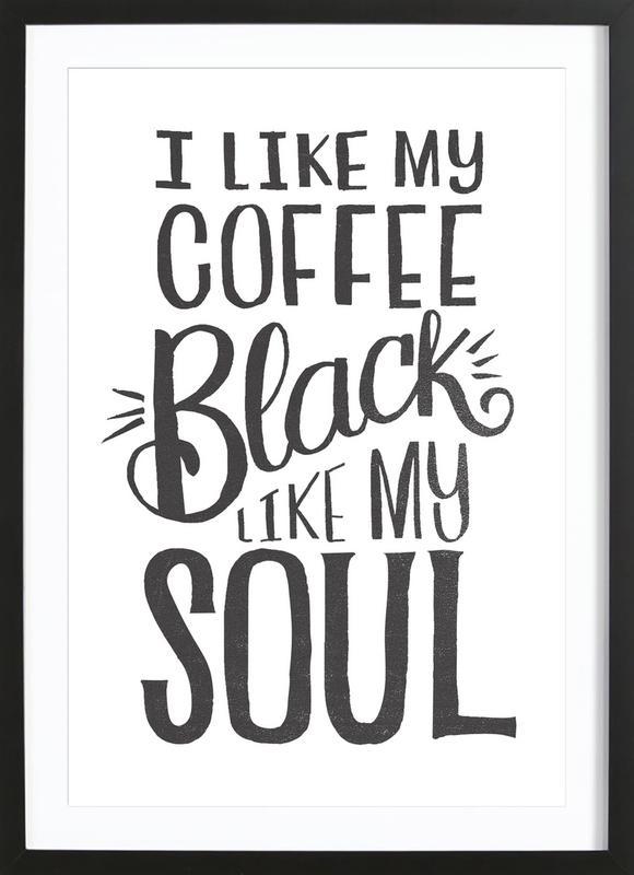 Black Coffee Framed Print