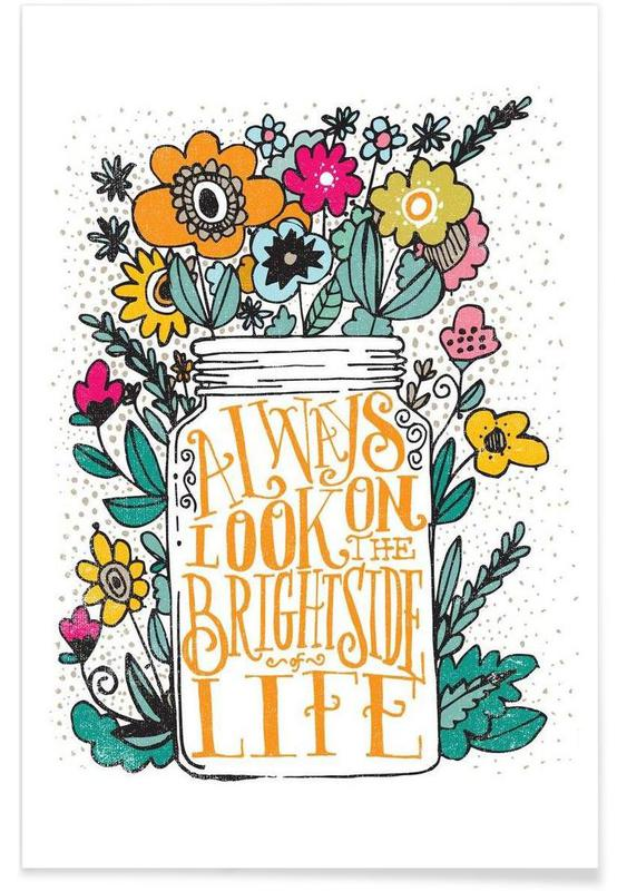 Motivation, always look on the bright side affiche