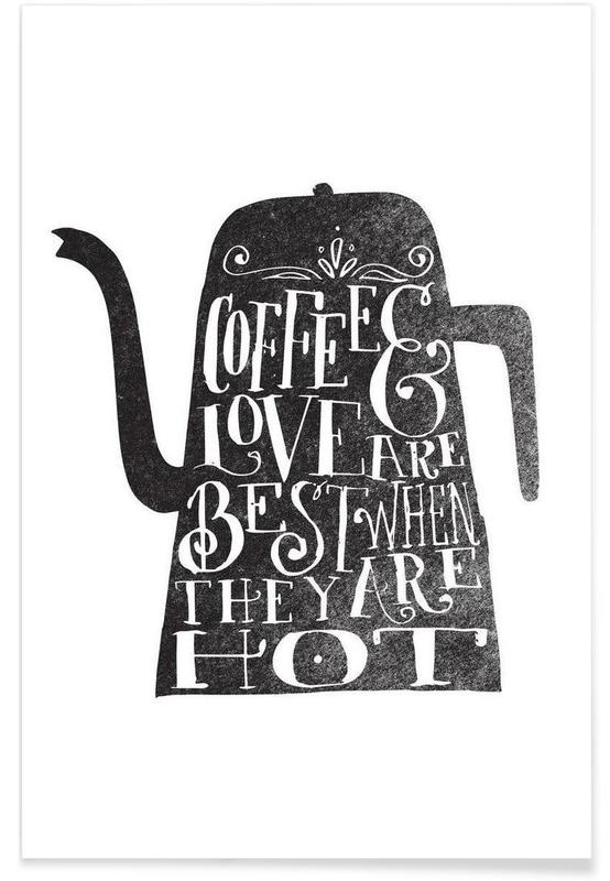coffee & love Poster