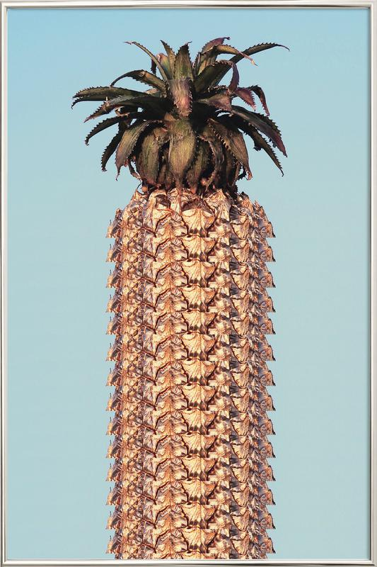 Pineapple poster in aluminium lijst