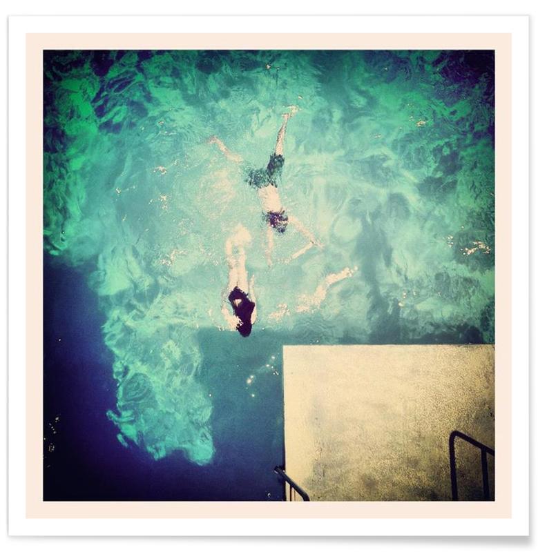 Swimming, Island Life Poster