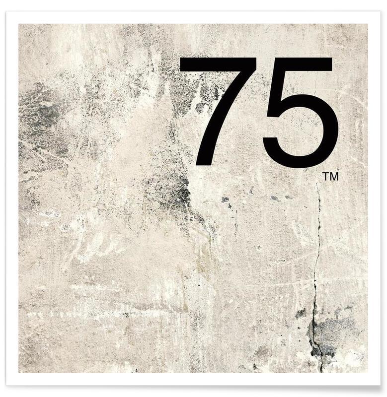 Noir & blanc, Nombres, 75. Helvetica affiche