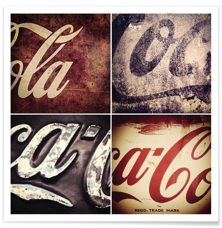 , 4 Cokes Poster affiche