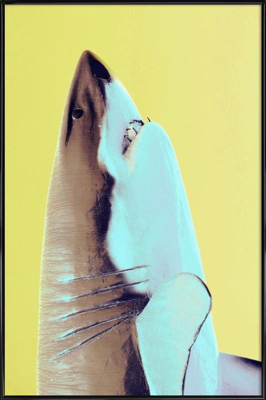 Attack! Yellow -Bild mit Kunststoffrahmen